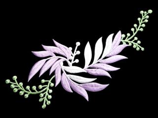 刺繍・レース シングル モチーフ(B1312)