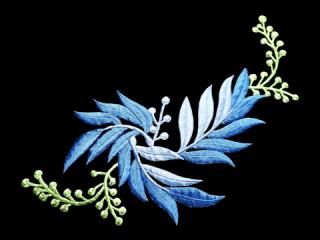 刺繍・レース シングル モチーフ(B1313)