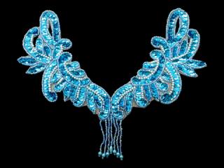 スパンコールモチーフ Turquoise MT(1076)