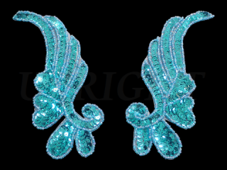 スパンコールモチーフ Turquoise MT(2076)