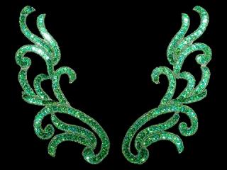 スパンコールモチーフ Green HG(2040)