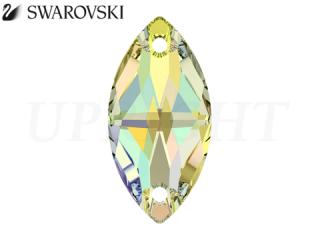 スワロフスキー ラインストーン 3223 ナベット オーロラ(AB)18×9