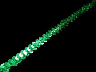 ストレッチ スパンコールブレード 1Row Green HG(111)