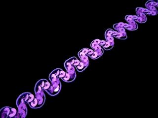 ストレッチ スパンコールブレード 1Row NewWave Violet MT(NW005)