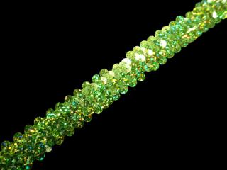 ストレッチ スパンコールブレード 2Row Lime HG(210)