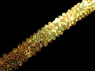 ストレッチ スパンコールブレード 3Row Gold HG(302)