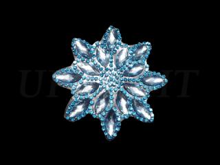 ラインストーンモチーフ Turquoise(554)