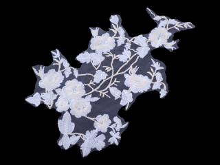 刺繍・レース シングル モチーフ(D3652)