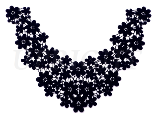 刺繍・レース ネックライン モチーフ(C2427)