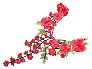 刺繍・レース ロング モチーフ(C2345)