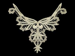 刺繍・レース ネックライン モチーフ(C2405)