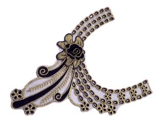 刺繍・レース ネックライン モチーフ(D3515)