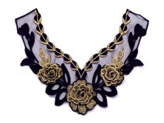 刺繍・レース ネックライン モチーフ(D3516)
