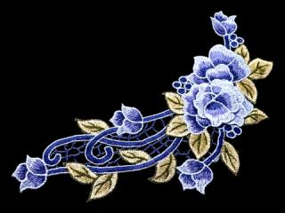 刺繍・レース シングル モチーフ(C2518)