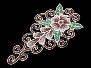 刺繍・レース シングル モチーフ(C2533)