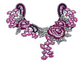 刺繍・レース ネックライン モチーフ(C2362)