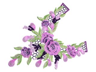 刺繍・レース ロング モチーフ(C2367)