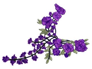 刺繍・レース ロング モチーフ(C2369)