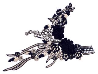 刺繍・レース ロング モチーフ(C2371)