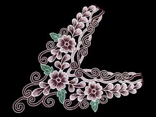 刺繍・レース ロング モチーフ(C2374)