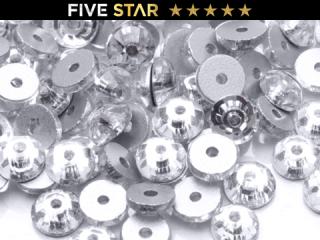 ラインストーン(ガラスストーン) SEW-ON(縫付タイプ)クリスタル(CR)5mm