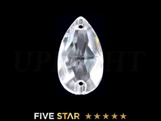 ラインストーン(ガラスストーン) 3230 ドロップ クリスタル(CR)12×7