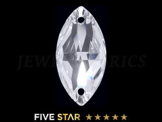 ラインストーン(ガラスストーン) 3223 ナベット クリスタル(CR)18×9