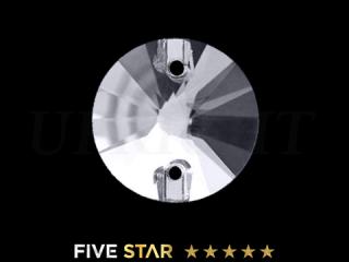 ラインストーン(ガラスストーン) 3200 リボリ クリスタル(CR)12mm