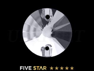 ラインストーン(ガラスストーン) 3200 リボリ クリスタル(CR)14mm