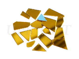 ミラーストーン 1セット(12個入) Gold 002