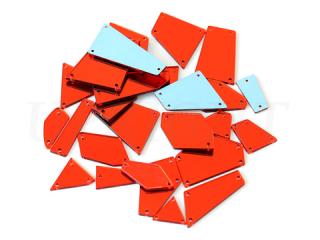 ミラーストーン 1セット(12個入) Red 004