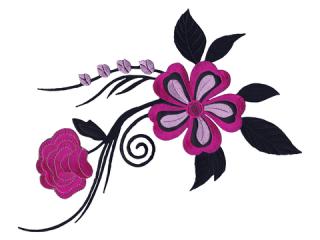 刺繍・レース シングル モチーフ(B1181)