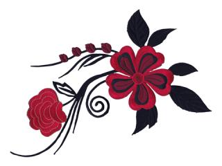 刺繍・レース シングル モチーフ(B1182)