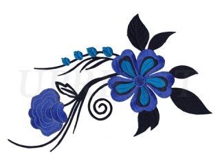 刺繍・レース シングル モチーフ(B1185)