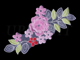 刺繍・レース シングル モチーフ(D3321)