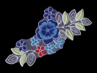 刺繍・レース シングル モチーフ(D3323)