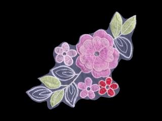 刺繍・レース シングル モチーフ(D3322)