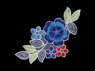 刺繍・レース シングル モチーフ(D3324)