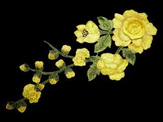 刺繍・レース シングル モチーフ(C2543)
