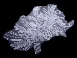 刺繍・レース シングル モチーフ(D3663)