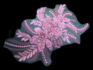 刺繍・レース シングル モチーフ(D3665)