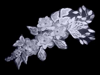 刺繍・レース シングル モチーフ(D3350)