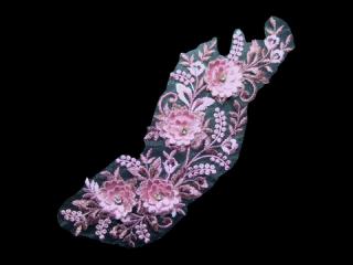 刺繍・レース シングル モチーフ(D3015)