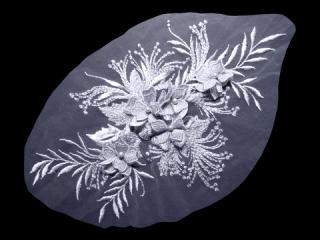 刺繍・レース シングル モチーフ(D3023)