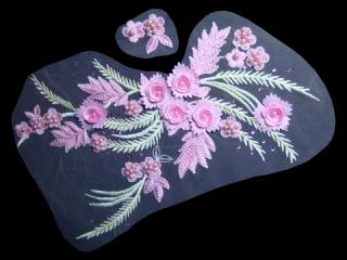 刺繍・レース コンビ モチーフ(D3065)