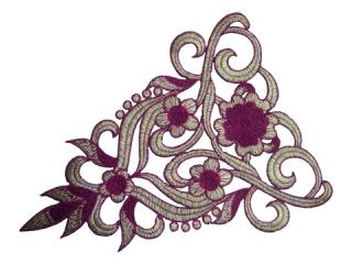 刺繍・レース シングル モチーフ(C2551)