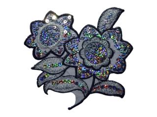 刺繍・レース シングル モチーフ(D3020)