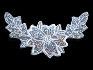 刺繍・レース シングル モチーフ(D3029)
