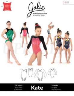 型紙(新体操・器械体操・フィギュアスケート・ダンス・チア・バレエ / レオタード コスチューム 衣装型紙)3901