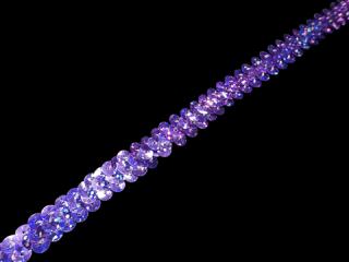 ストレッチ スパンコールブレード 1Row Purple HG(122)